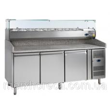 Стол холодильный для пиццы TEFCOLD-PT1300-I